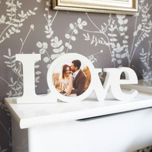 Love Photo Word Block